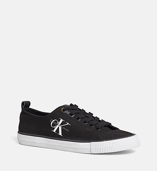 CALVIN KLEIN JEANS Canvas Sneakers - BLACK/BLACK - CALVIN KLEIN JEANS TRAINERS - main image