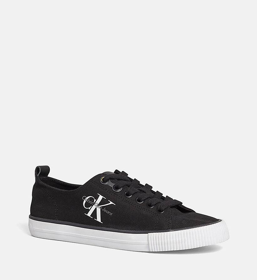 CALVIN KLEIN JEANS Canvas Sneakers - BLACK/CHAMBRAY - CALVIN KLEIN JEANS WOMEN - main image
