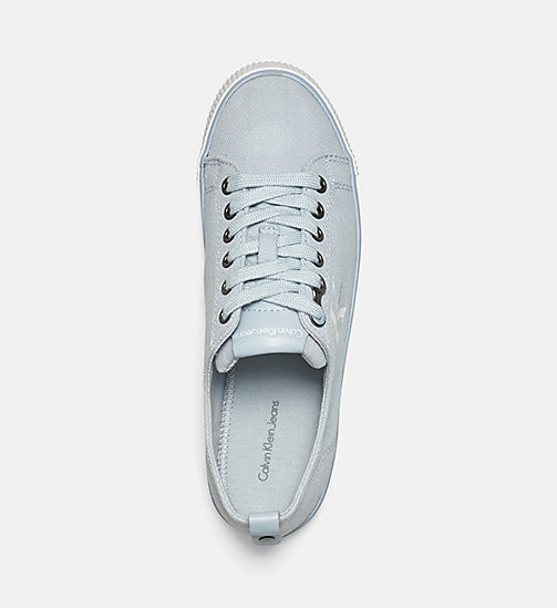 CALVIN KLEIN JEANS Canvas Sneakers - BLACK/CHAMBRAY - CALVIN KLEIN JEANS LOGO SHOP - main image 1
