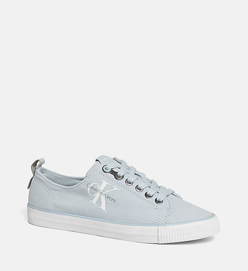 CALVIN KLEIN JEANS Canvas sneakers - BLACK/CHAMBRAY - CALVIN KLEIN JEANS LOGO SHOP - main image