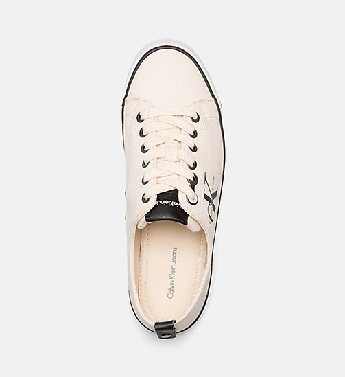 CALVIN KLEIN JEANS Canvas Sneakers - IVORY - CALVIN KLEIN JEANS TRAINERS - detail image 1