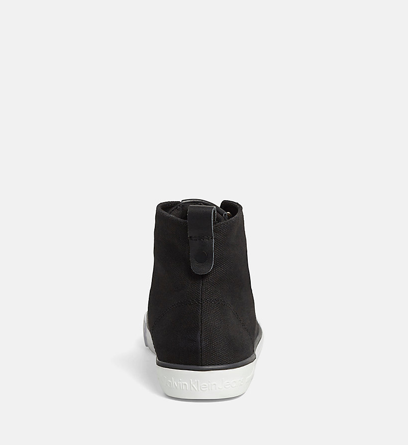 CALVIN KLEIN JEANS Canvas High-Top Trainers - BLACK/NAVY - CALVIN KLEIN JEANS WOMEN - detail image 3