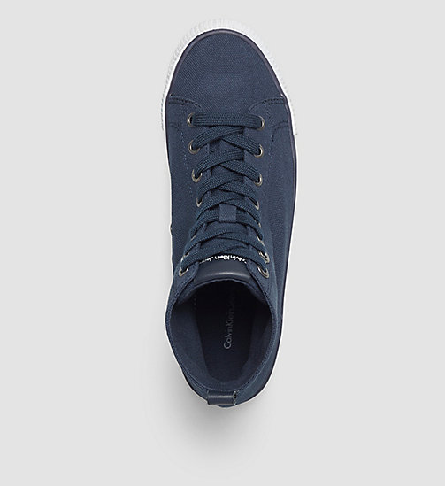 CALVIN KLEIN JEANS Canvas High-Top Sneakers - BLACK/NAVY - CALVIN KLEIN JEANS SHOES & ACCESORIES - detail image 1
