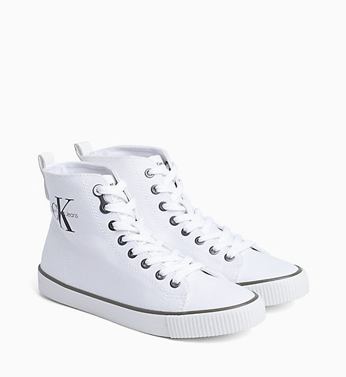 CALVIN KLEIN JEANS Canvas high-top sneakers - BLACK WHITE - CALVIN KLEIN JEANS SNEAKERS - detail image 1