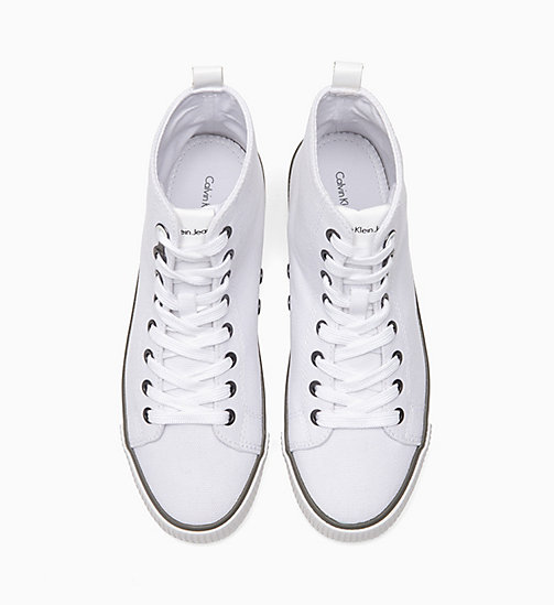 CALVIN KLEIN JEANS Canvas High-Top Trainers - BLACK / WHITE - CALVIN KLEIN JEANS TRAINERS - detail image 1