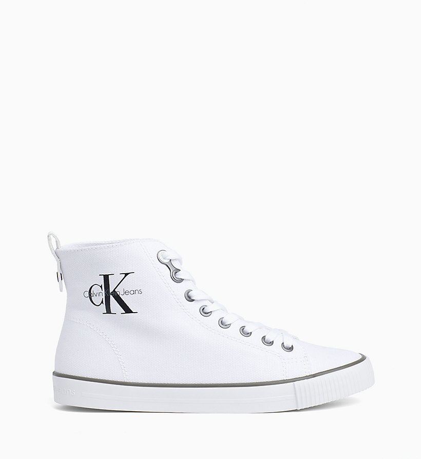 CALVIN KLEIN JEANS Canvas High-Top Trainers - BLACK/BLACK - CALVIN KLEIN JEANS WOMEN - main image