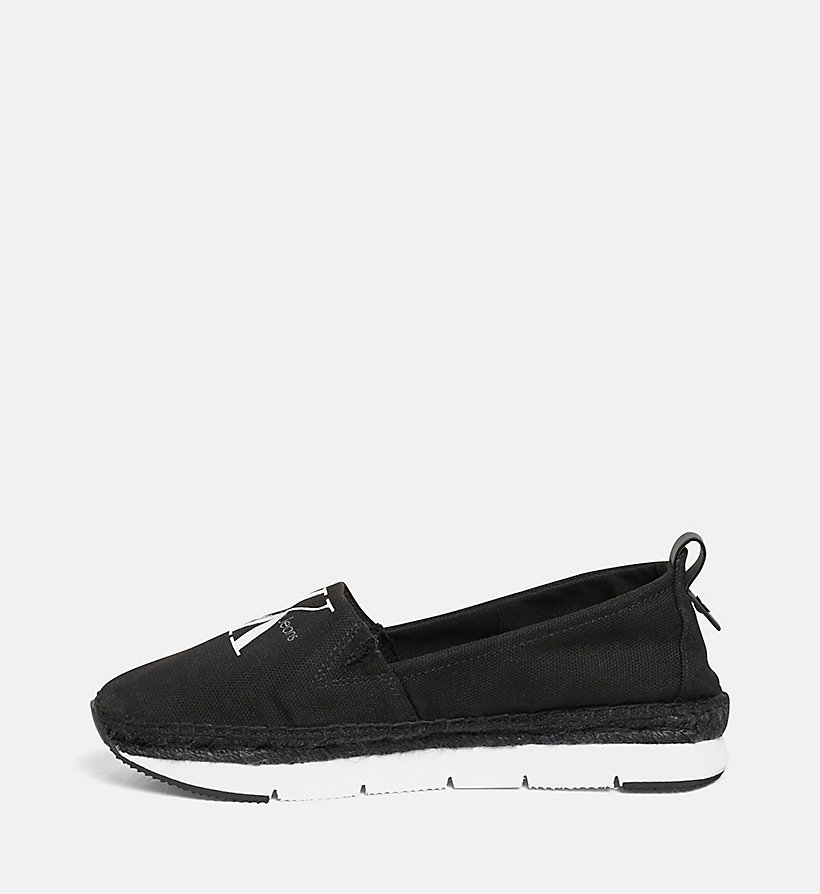 CALVIN KLEIN JEANS Canvas Slip-On Shoes - BLACK/NAVY - CALVIN KLEIN JEANS WOMEN - detail image 2
