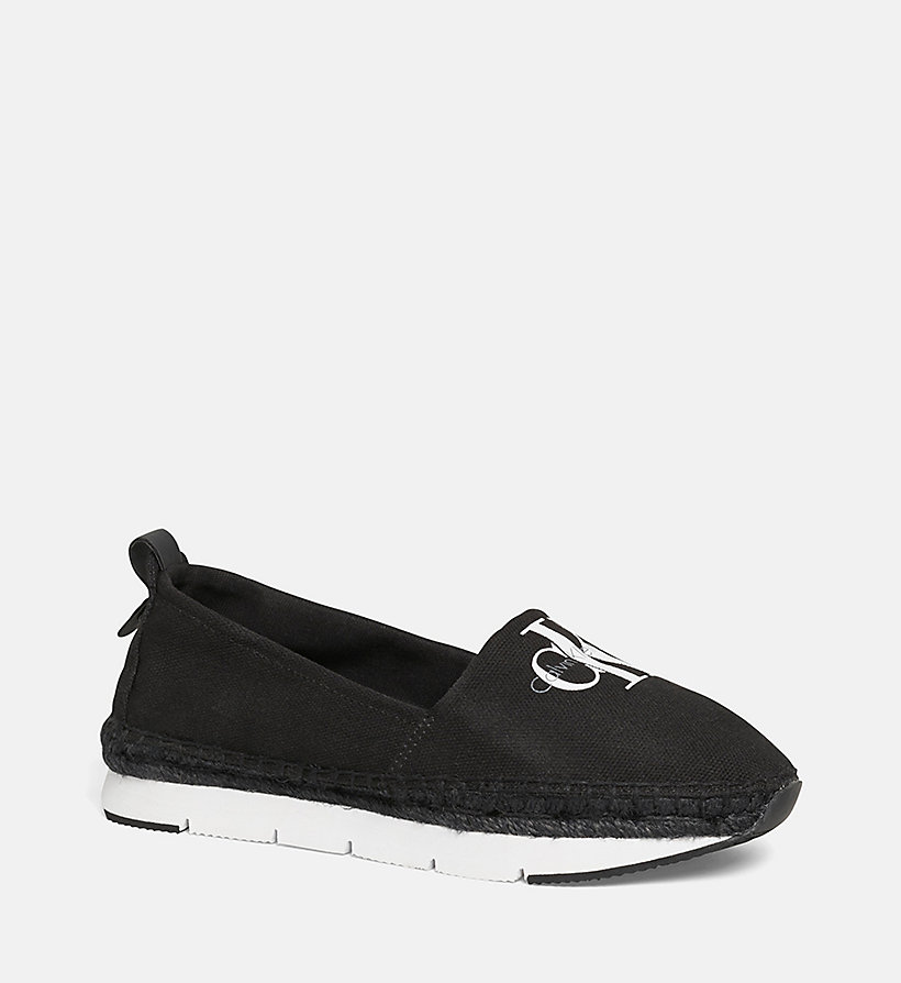 CALVIN KLEIN JEANS Canvas Slip-On Shoes - BLACK/NAVY - CALVIN KLEIN JEANS WOMEN - main image