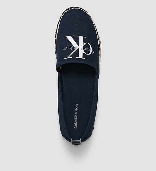 CALVIN KLEIN JEANS Canvas Slip-On Shoes - BLACK/NAVY - CALVIN KLEIN JEANS SHOES - detail image 1