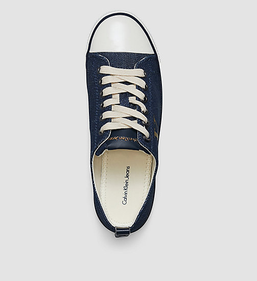 CKJEANS Baskets en denim - BLUE/MIDNIGHT/GOLD - CK JEANS CHAUSSURES - image détaillée 1
