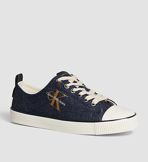 CKJEANS Baskets en denim - BLUE/MIDNIGHT/GOLD - CK JEANS CHAUSSURES - image principale