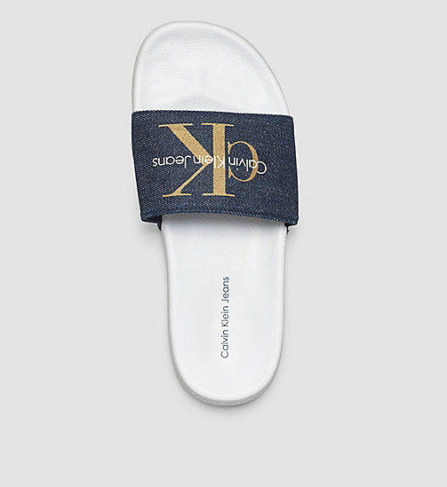 CKJEANS Denim Logo Sliders - BLUE/MIDNIGHT/GOLD - CK JEANS DELETE SHOES - detail image 1
