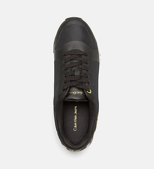 CALVIN KLEIN JEANS Mesh Sneakers - BLACK/GOLD - CALVIN KLEIN JEANS SHOES - detail image 1
