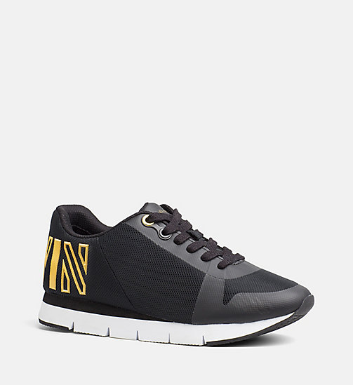 CALVIN KLEIN JEANS Mesh Sneakers - BLACK/GOLD - CALVIN KLEIN JEANS SHOES - main image