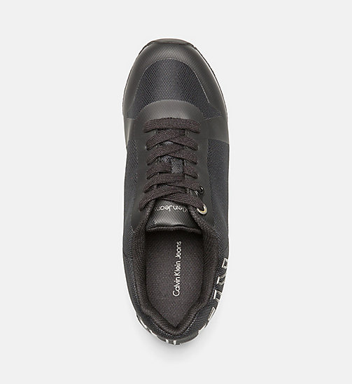 CALVIN KLEIN JEANS Mesh Sneakers - BLACK/PEWTER - CALVIN KLEIN JEANS SHOES - detail image 1
