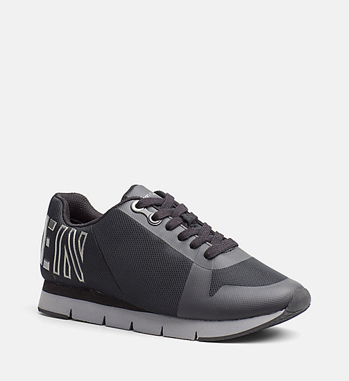 CALVIN KLEIN JEANS Mesh Sneakers - BLACK/PEWTER - CALVIN KLEIN JEANS SHOES - main image