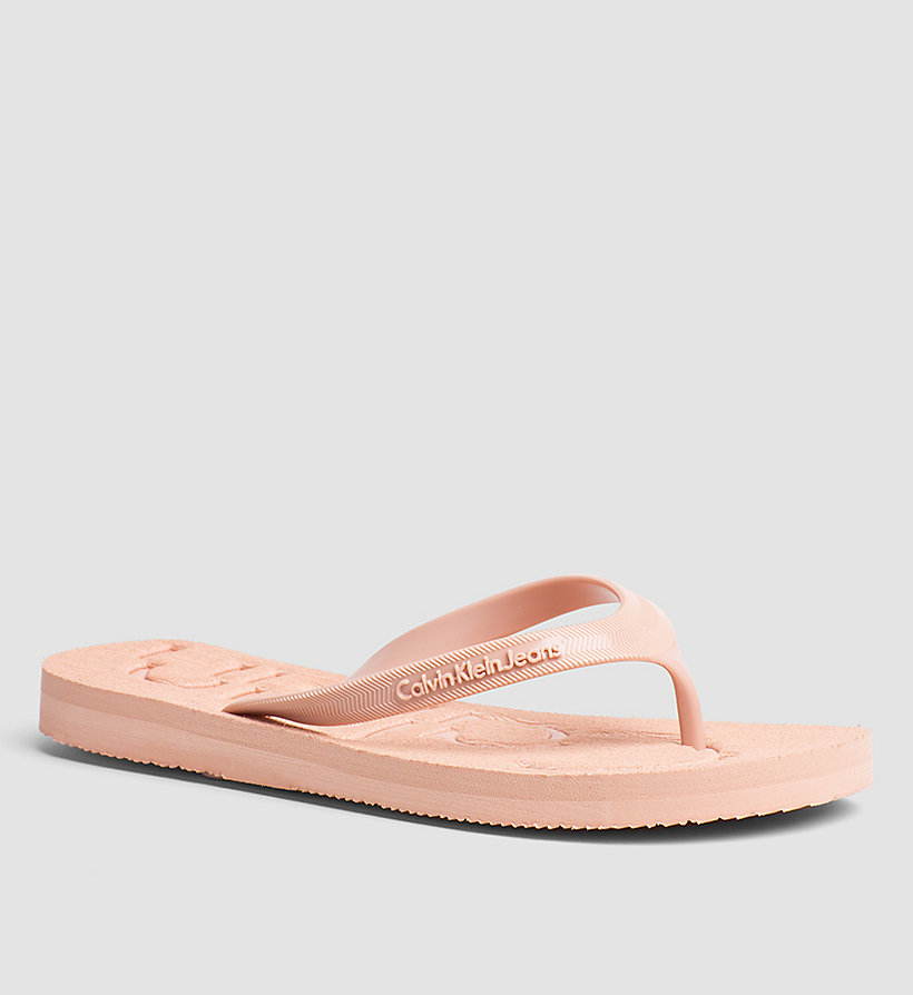 CKJEANS Jelly Slippers - PINK/WHITE/SILVER - CK JEANS WOMEN - main image