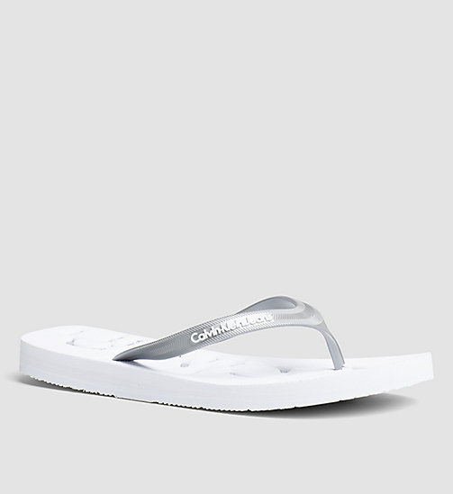 CKJEANS Jelly Flip Flops - PINK/WHITE/SILVER - CK JEANS SLIDERS - main image