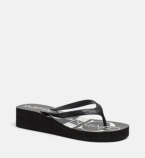 CALVIN KLEIN JEANS Jelly slippers - BLACK/BLACK/BLACK -  SLIPPERS - main image