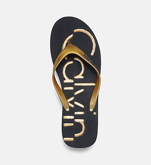 CALVIN KLEIN JEANS Jelly slippers - BLACK/INDIGO/GOLD -  SLIPPERS - detail image 1