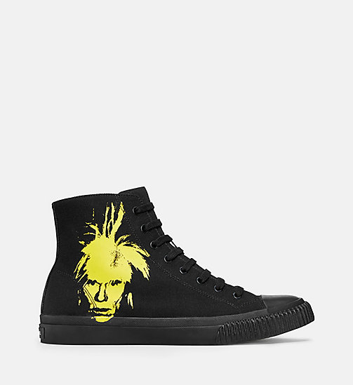 CALVIN KLEIN JEANS Warhol Portrait Canvas Sneakers - BLACK/YELLOW - CALVIN KLEIN JEANS TRAINERS - main image