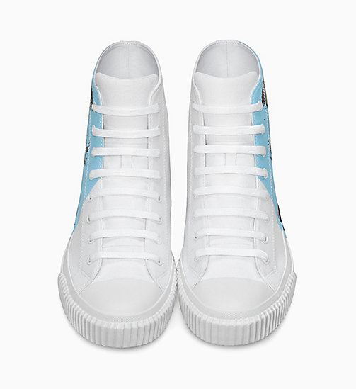 CALVIN KLEIN JEANS Warhol Portrait Canvas Sneakers - WHITE/LIGHT BLUE - CALVIN KLEIN JEANS TRAINERS - detail image 1