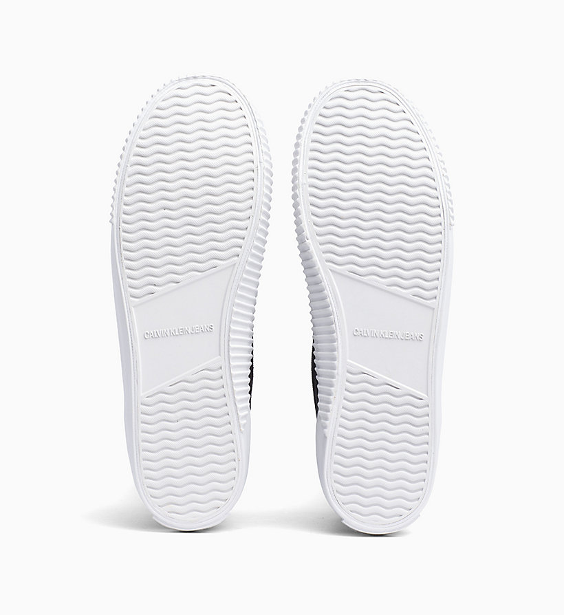 CALVIN KLEIN JEANS Canvas High-Top Trainers - BRIGHT WHITE - CALVIN KLEIN JEANS WOMEN - detail image 4