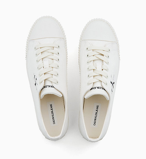 CALVIN KLEIN JEANS Canvas Trainers - BRIGHT WHITE - CALVIN KLEIN JEANS TRAINERS - detail image 1
