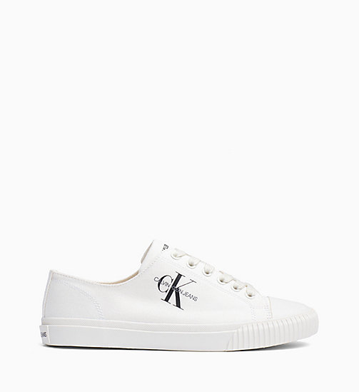 CALVIN KLEIN JEANS Canvas Trainers - BRIGHT WHITE - CALVIN KLEIN JEANS TRAINERS - main image