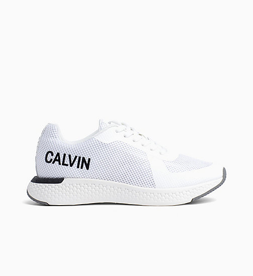 CALVIN KLEIN JEANS Mesh Trainers - BRIGHT WHITE - CALVIN KLEIN JEANS TRAINERS - main image