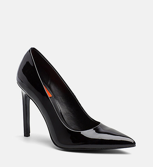 CALVIN KLEIN JEANS Patent Leather Pumps - BLACK - CALVIN KLEIN JEANS SHOES & ACCESORIES - main image