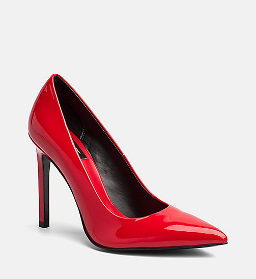 CALVIN KLEIN JEANS Patent Leather Pumps - FIRE - CALVIN KLEIN JEANS SHOES & ACCESORIES - main image