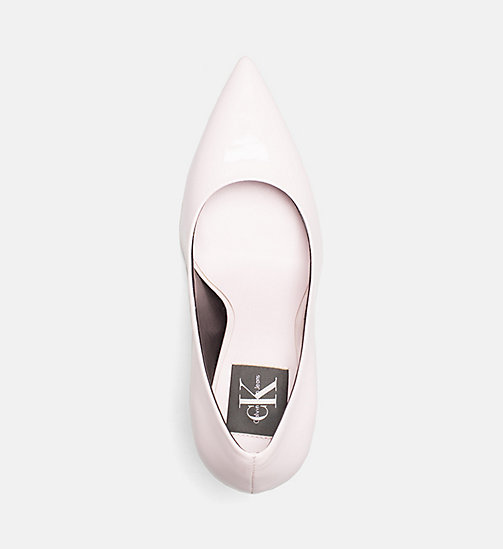 CALVIN KLEIN JEANS Patent Leather Pumps - POWDER - CALVIN KLEIN JEANS SHOES & ACCESORIES - detail image 1