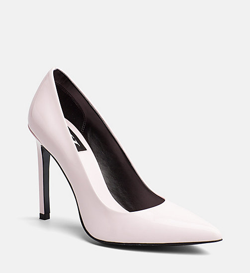 CALVIN KLEIN JEANS Patent Leather Pumps - POWDER - CALVIN KLEIN JEANS SHOES & ACCESORIES - main image
