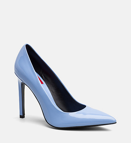 CALVIN KLEIN JEANS Patent Leather Pumps - SKY BLUE - CALVIN KLEIN JEANS BLUES MASTER - main image