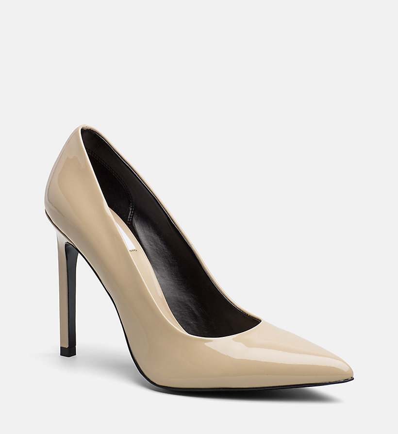 CALVIN KLEIN JEANS Patent Leather Pumps - FIRE - CALVIN KLEIN JEANS WOMEN - main image