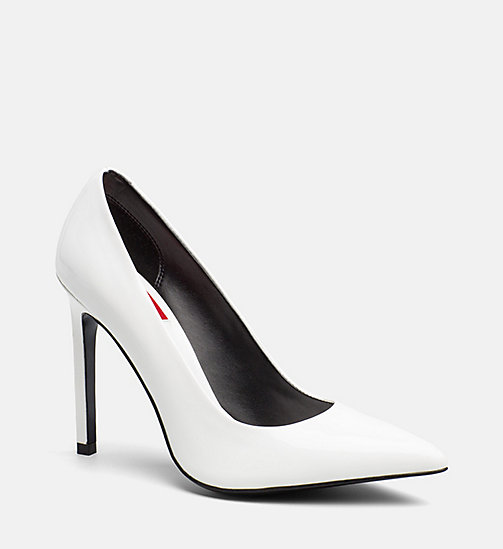 CALVIN KLEIN JEANS Patent Leather Pumps - WHITE - CALVIN KLEIN JEANS SHOES & ACCESORIES - main image