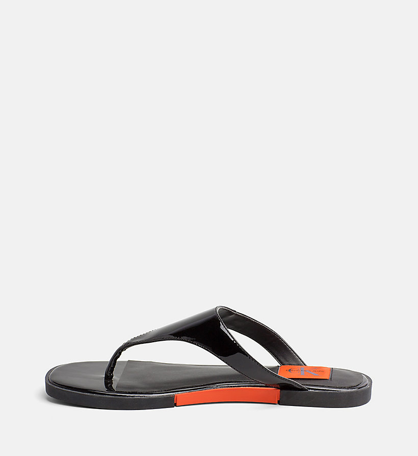 CALVIN KLEIN JEANS Patent Leather Sandals - SKY BLUE - CALVIN KLEIN JEANS WOMEN - detail image 2