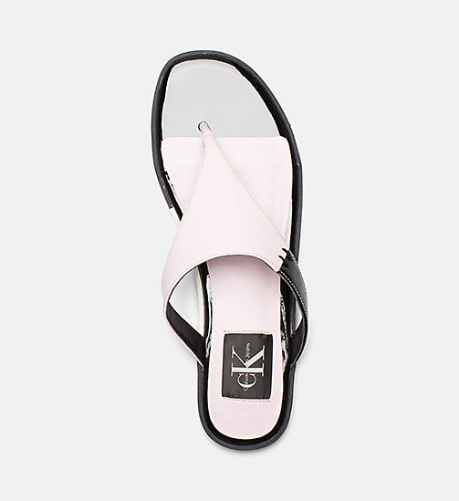 CALVIN KLEIN JEANS Patent Leather Sandals - POWDER - CALVIN KLEIN JEANS HEAT WAVE - detail image 1
