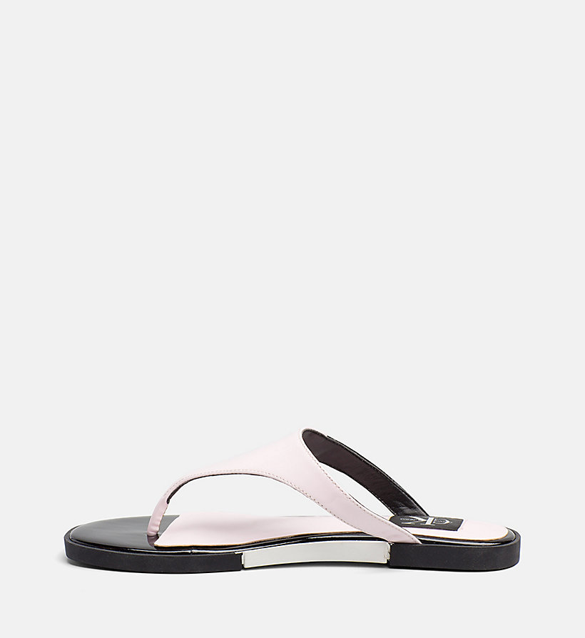 CALVIN KLEIN JEANS Patent Leather Sandals - BLACK - CALVIN KLEIN JEANS WOMEN - detail image 2