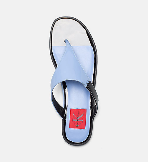 CALVIN KLEIN JEANS Patent Leather Sandals - SKY BLUE - CALVIN KLEIN JEANS SANDALS - detail image 1