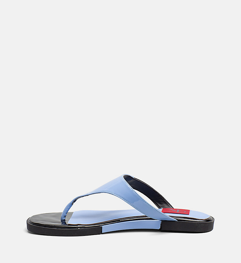 CALVIN KLEIN JEANS Patent Leather Sandals - WHITE - CALVIN KLEIN JEANS WOMEN - detail image 2