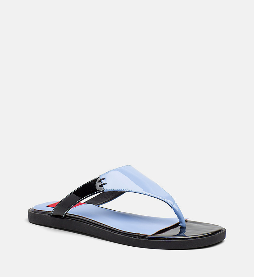 CALVIN KLEIN JEANS Patent Leather Sandals - WHITE - CALVIN KLEIN JEANS WOMEN - main image