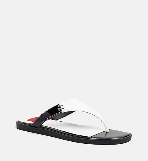 CALVIN KLEIN JEANS Patent Leather Sandals - WHITE - CALVIN KLEIN JEANS SHOES & ACCESORIES - main image