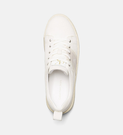 CALVIN KLEIN JEANS Twill Sneakers - OFF WHITE -  HEAT WAVE - detail image 1
