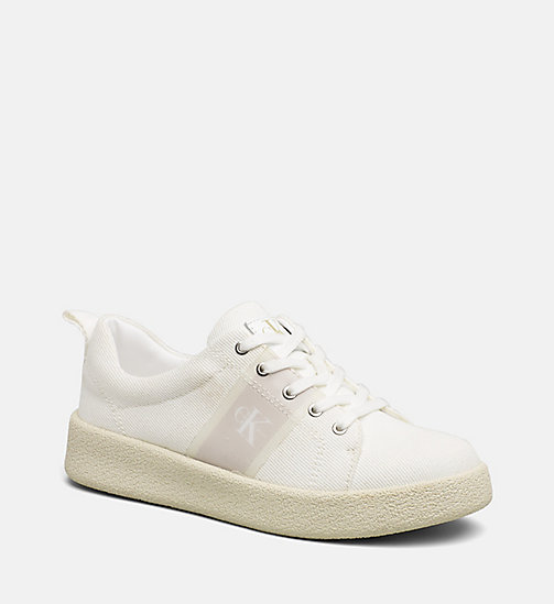CALVIN KLEIN JEANS Twill Sneakers - OFF WHITE -  HEAT WAVE - main image