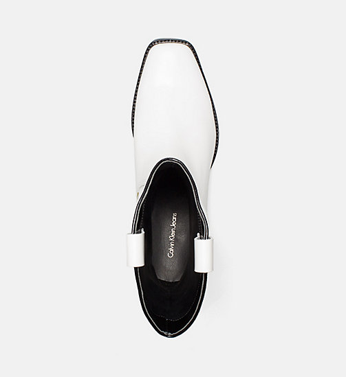 CALVIN KLEIN JEANS Leather Cowboy Boots - WHITE BLACK -  #MYCALVINS WOMEN - detail image 1