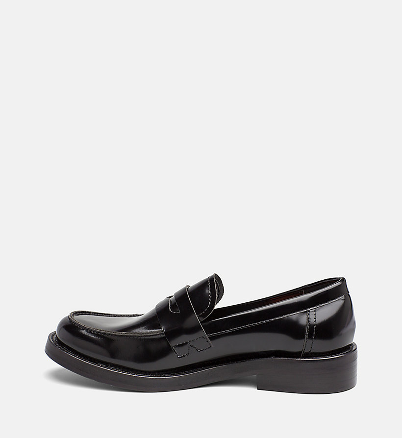 CALVIN KLEIN JEANS Leather Loafers - WHITE BLACK - CALVIN KLEIN JEANS WOMEN - detail image 2