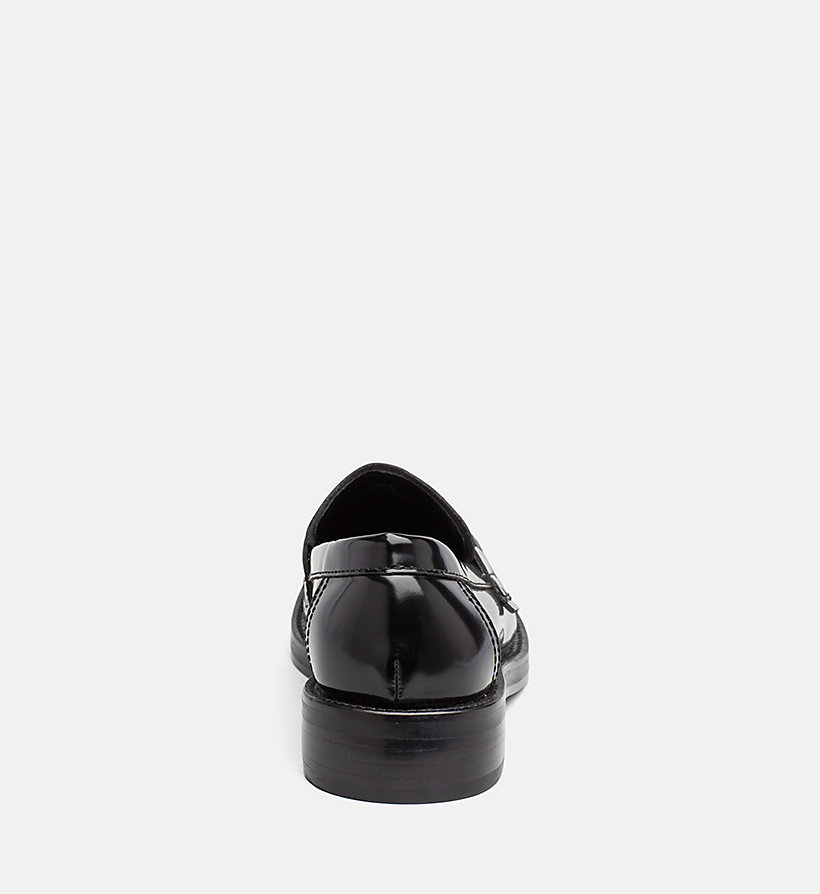 CALVIN KLEIN JEANS Leather Loafers - WHITE BLACK - CALVIN KLEIN JEANS WOMEN - detail image 3