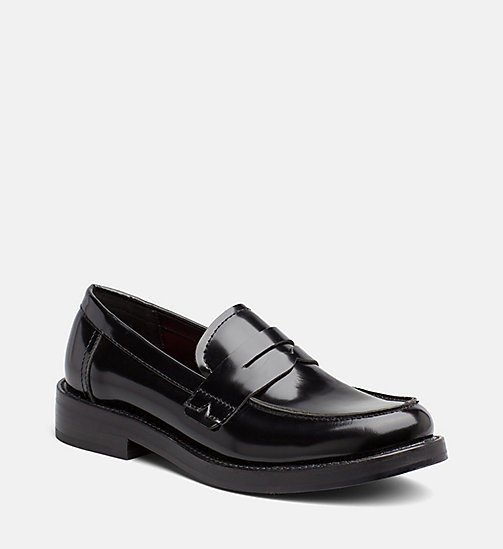 CALVIN KLEIN JEANS Leather Loafers - BLACK - CALVIN KLEIN JEANS FLAT SHOES - main image